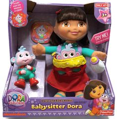 Dora The Explorer Doll Baby Boots Babysitter Dora Talking Interactive New   FisherPrice Dora The Explorer ba48dfa32855