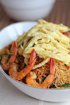The Little Teochew: Singapore Home Cooking: Mee Siam (Malaysian Dry Version)
