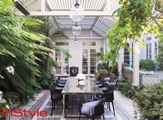 Look Inside Rachel Zoe's Chic Home - The Outside Patio from InStyle.com