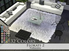 Flokati 2 - The Sims 4 Catalog Sims 3, Lotes The Sims 4, Sims Four, Sims 4 Game, Sims 4 Cc Furniture Living Rooms, Los Sims 4 Mods, Muebles Sims 4 Cc, Sims 4 Bedroom, Bedrooms