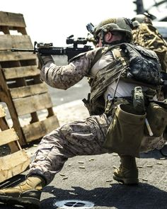 A U.S. Marine reserved to Reconnaissance Platoon, Battalion Landing Team 1/4, 13th Marine Expeditionary Unit.