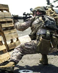 A U.S. Marine reserved to Reconnaissance Platoon, Battalion Landing Team 1/4, 13th Marine Expeditionary Unit.