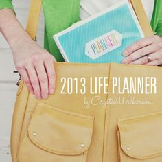 A Peek Inside the 2013 Life Planner by Crystal Wilkerson. PLUS free printable cover options. #organizing #planner #printables