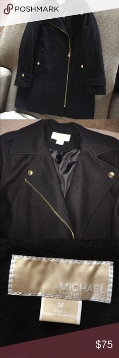 Michael Kors Dress Coat Beautiful black Michael Kors dress coat. Can be worn fancy or casual! So perfect for fall and winter! Like new! Only worn once for an event. Michael Kors Jackets & Coats