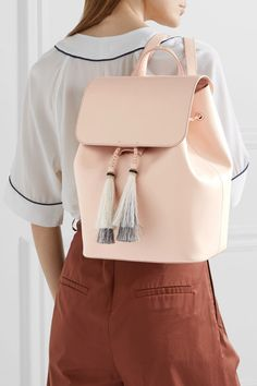 Blush leather (Cow), black and ecru horse hair Magnetic-fastening front flap, drawstring top Weighs approximately 3.1lbs/ 1.4kg