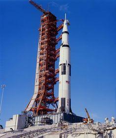 Apollo 15 roll out to Pad 39A in May, 1971. Apollo Space Program, Nasa Space Program, Apollo Moon Missions, Apollo Spacecraft, Space Launch, Nasa Photos, Space Rocket, City Wallpaper, Moon Landing