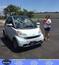 Congratulations BRITNEY on your #Smart #fortwo from Valerie Zaragoza at My Car Store Buy Here Pay Here!  http://deliverymaxx.com/DealerReviews.aspx?DealerCode=YOGM  #MyCarStoreBuyHerePayHere