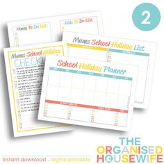 I like to plan and be organised during the school holidays so we can achieve everything we want during the school holiday break. My School Holiday planner bundle is perfect to help with this!