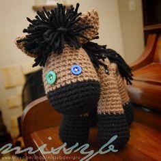 Crochet Horse and Unicorn Pattern  Stuffed Animal by missybdesigns