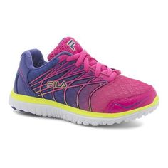 Fila Boys' Speedstride Training Shoes (Pink/Turquoise or Aqua, Size 7) - Youth Running Shoes at Academy Sports