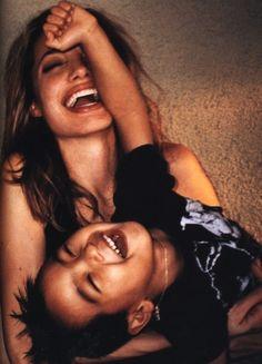 Angelina Jolie Pitt by Mario Testino - i wanna shoot happy pic like these with my kids too Mario Testino, Angelina Jolie, Stana Katic, Brad Pitt, Vivienne Marcheline Jolie Pitt, Pretty People, Beautiful People, Beautiful Person, Amazing People
