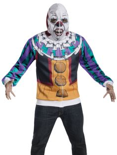 Dashing Adult Pennywise Hoodie Costume. Fantastic Selection of Evil Clown Costumes for Halloween at PartyBell. Evil Clown Costume, Clown Wig, Clown Costumes, Spooky Halloween Costumes, Clown Mask, Circus Costume, Creepy Clown, Adult Costumes, Pennywise Mask