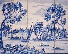 Dutch mural repro SOLAR Antique Tiles : :