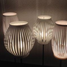Lampes en papier cartonné / DIY Paper