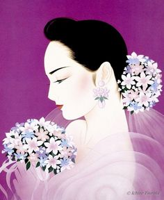 bouquets ~ by Ichiro Tsuruta is a Japanese visual artist, was born in 1954 in the city of Hondo in Kumamoto Prefecture, Ichiro Tsuruta grew up in Kyushu's Amakusa Region, Japan.