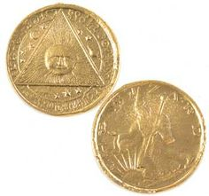 Sun Wizard coin - $8.06  A highly detailed coin featuring a wizard on one side and a pyramid with a ray casting Sun face on the other.