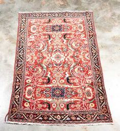 """Hand Woven Sultanabad Rug, 4' 5"""" x 6' 10"""""""