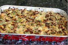 Slimmed Down Loaded Potato & Buffalo Chicken Casserole