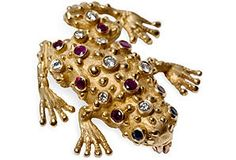 Frog Brooch............................. My brooch but mine has all diamond warts and ruby eyes.  I cherish this pin !