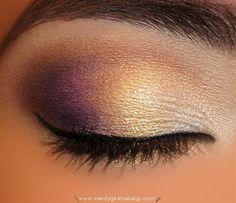 Gold & Purple Smokey Eyes