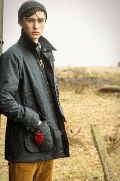English countryside/ Beanie/ waxed coat