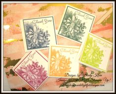 Heartfelt Blooms, Pizza Box, Gold Metallic Edge Ribbon, Painted With Love SDSP - 3 x 3 notecards & box (colors are: Dapper Denim, Tranquil Tide, Berry Burst, Peekaboo Peach, Lemon Lime Twist)