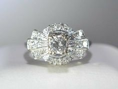 Ringtique  Vintage Art Deco Engagement Ring  Unique by Ringtique, $1295.00