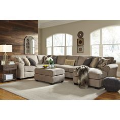 4piece sectional with right chaise u0026 armless sofa
