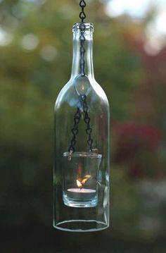 RRR | Luminárias feitas com garrafas de vidro | Sinta-se Mormaii