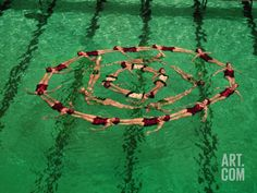 size: Photographic Print: March Three International Synchronized Swimming Teams in Pan-American Games, Mexico City. Olympic Badminton, Olympic Games Sports, Competitive Swimming, Synchronized Swimming, Sport Gymnastics, Olympic Gymnastics, Swimmer Girl Problems, Mermaid School, Ballet Moves