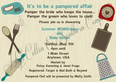 e4fc1b3812a5 Items similar to Pampered Chef Inspired Wedding Shower Invitation on Etsy