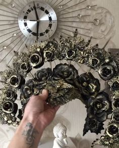 "ON ORDER - Fantasy headpiece ""Sacred"" - gothic, cosplay, fantasy headpiece"