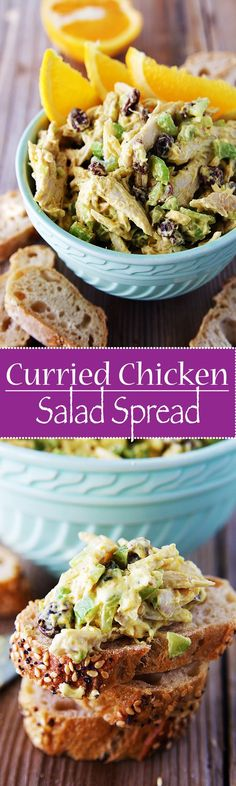 Curried Chicken Salad Spread is so yummy and delicious you don't even need to spread it to enjoy it.