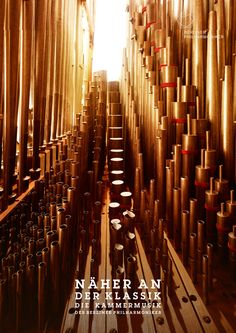 Berlin Philharmonic Orchestra ad campaign - macro photography inside instruments