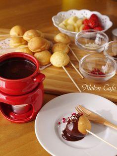 バレンタインやパーティに♪とろけるチョコレートフォンデュ(ホットケーキミックスのまるっと