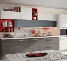 #kitchen #design #interior #furniture #furnishings комплект в кухню Cucine Lube Swing, CLS09GR