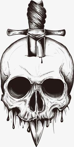 A Espada,Skull,Cartoon skull,Vector.,Desenho de Caveira,A,Espada,Inserido,no,crânio.,Cartoon,skull,Desenho,Caveira