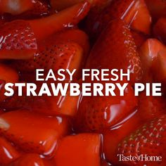 Source by piapagel Related posts: Easy Fresh Strawberry Pie This easy FRESH Strawberry Pie Recipe has a filling with no gelatin and tons of … Crustless Fresh Strawberry Pie Easy Strawberry Pie (wie Frisch und Shoney) Easy Desserts, Delicious Desserts, Yummy Food, Jello Dessert Recipes, Summer Dessert Recipes, Fruit Dessert, Pie Dessert, Healthy Food, Easy Strawberry Pie