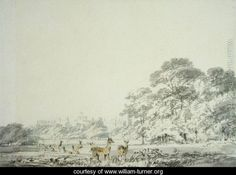 Windsor Castle and Park with Deer - Joseph Mallord William Turner - www.william-turner.org