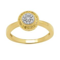 10k Yellow Gold Yellow and White Diamond Ring (1/4 cttw, I-J Color, I2-I3 Clarity) Amazon Curated Collection. $270.00. Made in India