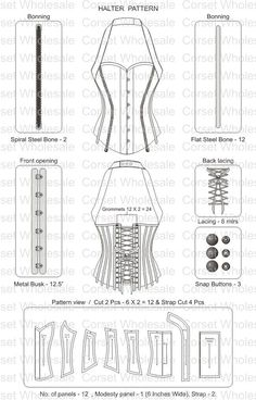 corset pattern - don't think I ll be ever doing this..just in case though: