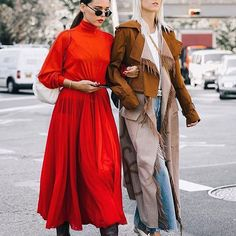 Street style pinned by sheisrebel.com - @styleheroine and @lindatol_ by @collagevintage2 😍