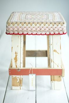 wood and wool stool by woodwoolstool on etsy