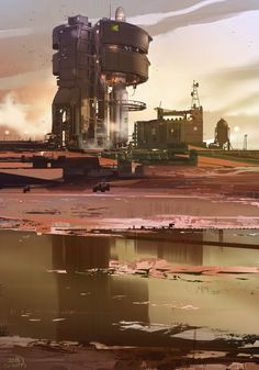 Base Etrange — Art by Sparth . on ArtStation. Cyberpunk, Art Conceptual, Infinite Art, Sci Fi City, Alien Worlds, Environment Concept Art, Science Fiction Art, Concept Architecture, Sci Fi Fantasy