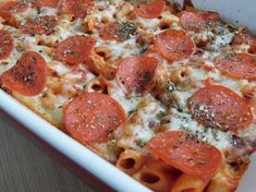 Weight watcher recipes, Pepperoni pizza pasta bake by drizzle me skinny