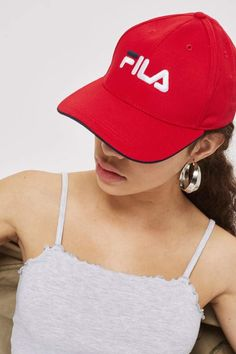 c03b4109e7d Fila Red Humphrey Cap by Pink Accessories