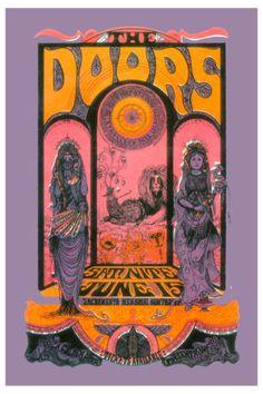Doors, The - The Doors at Sacramento concert poster 1967 in the rock music posters . - Doors, The – The Doors at Sacramento concert poster 1967 in rock music posters, - Psychedelic Rock, Psychedelic Posters, Hippie Posters, Music Posters, Art Posters, Custom Posters, Art Hippie, Music Rock, Rock Band Posters
