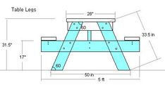 DIY picnic table plans