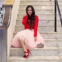 25 New Ideas Skirt Tulle Red Outfit Jupe Tulle Rose, Pink Tulle Skirt, Tulle Dress, Tulle Skirts, Blouse Dress, Dress Red, Bodycon Dress, Valentine Outfits For Women, Valentines Day Dresses