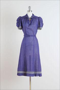 Cotton day dress, 1940's.